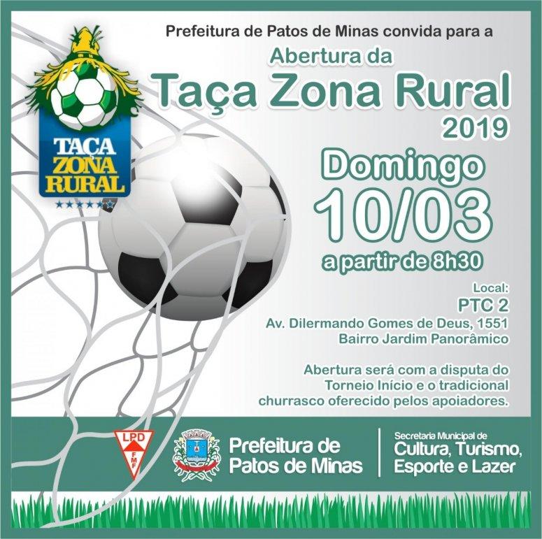 Abertura da 7ª edição da Taça Zona Rural acontecerá neste domingo
