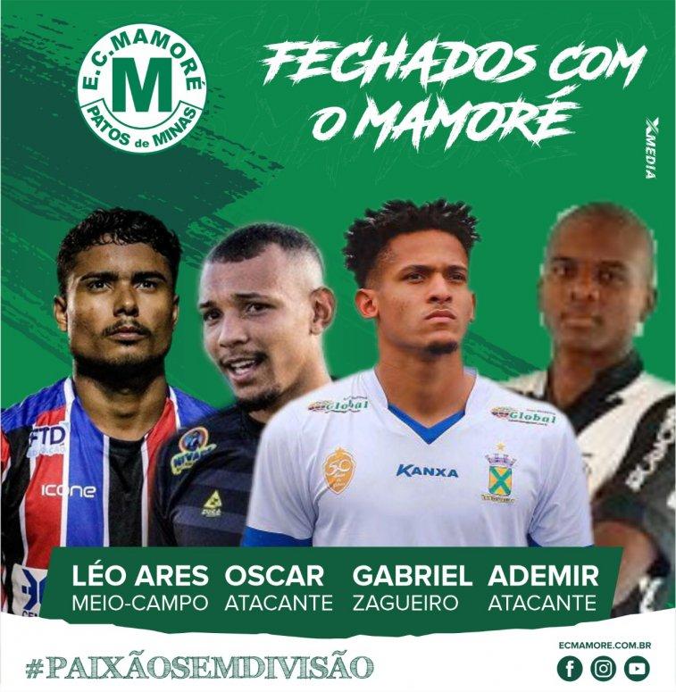 Mamoré anuncia quatro reforços importantes para a temporada 2020