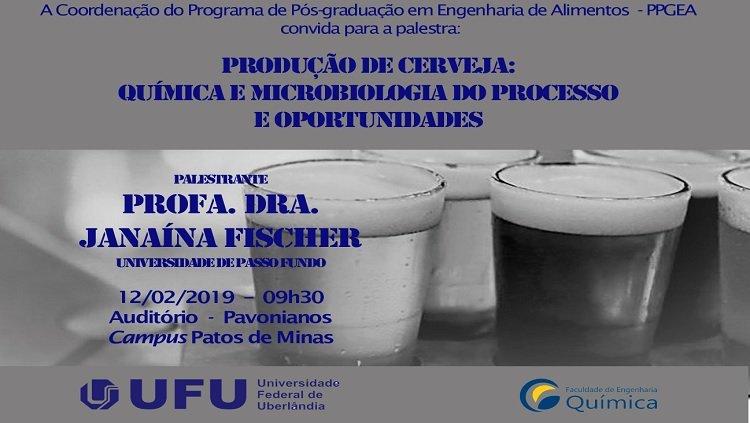 Palestra sobre produção de cerveja é tema da pós-graduação em Patos de Minas