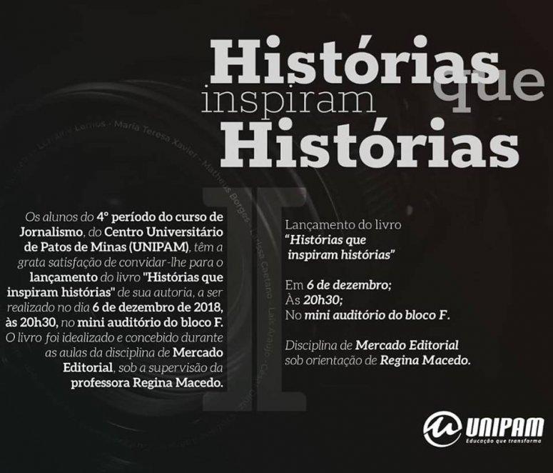 Histórias que inspiram Histórias será lançado nesta quinta-feira