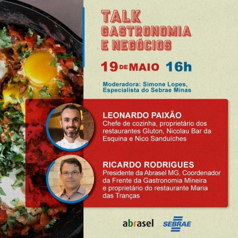 Sebrae anuncia eventos on-line para setor de alimentação e microempreendedores