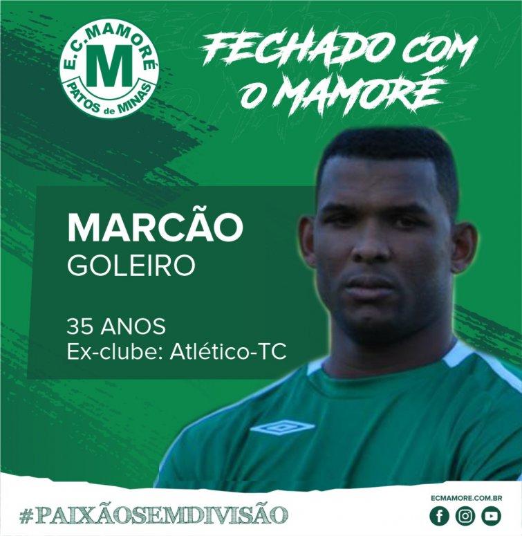 Mamoré anuncia goleiro Marcão para temporada 2020