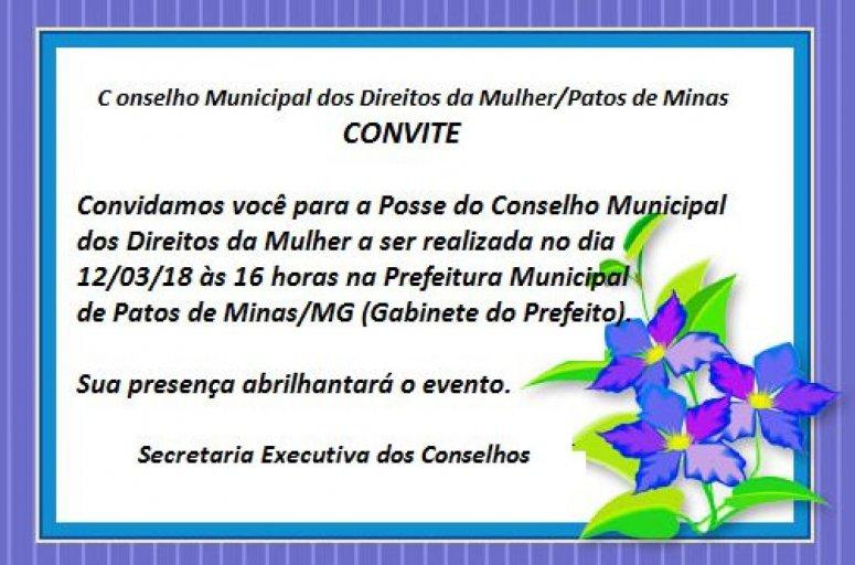Novos membros do Conselho Municipal dos Direitos da Mulher da Mulher serão empossados na próxima segunda-feira