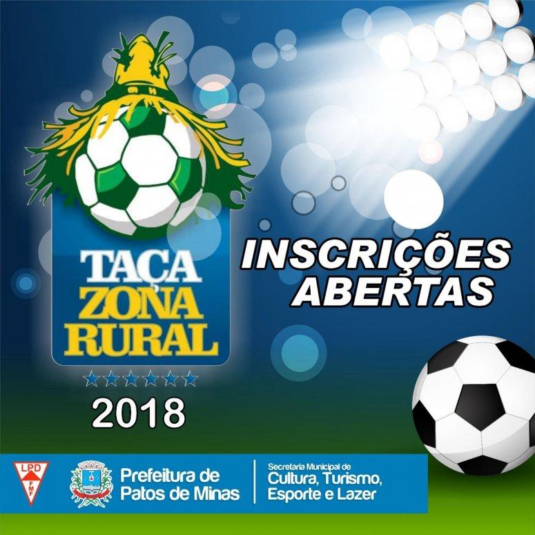Inscrições para participar da Taça Zona Rural iniciam-se hoje