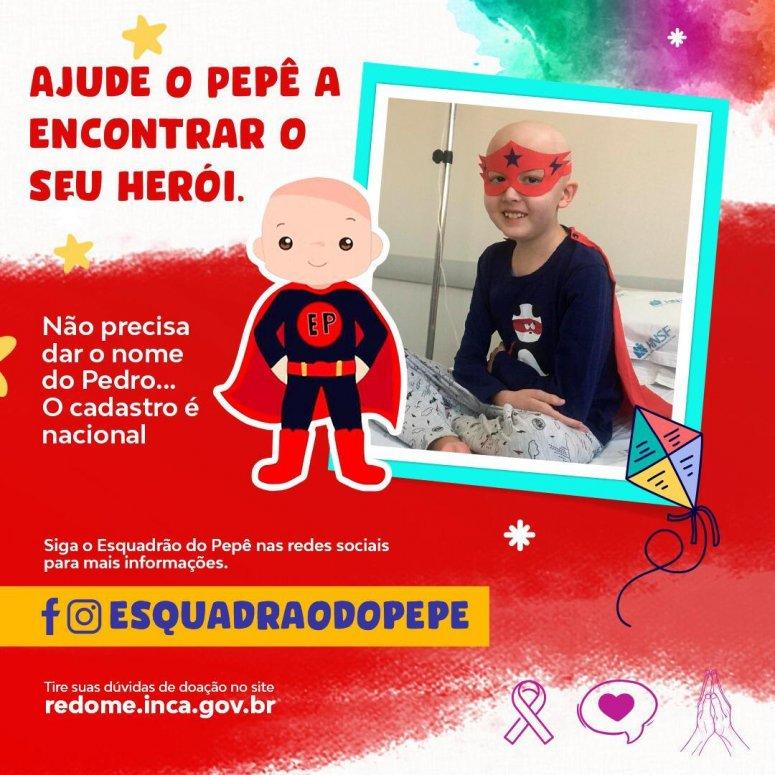 """""""Amigos que ajudam"""" convocam população para doação de sangue e cadastro para doação de medula óssea em prol ao pequeno Pepê"""