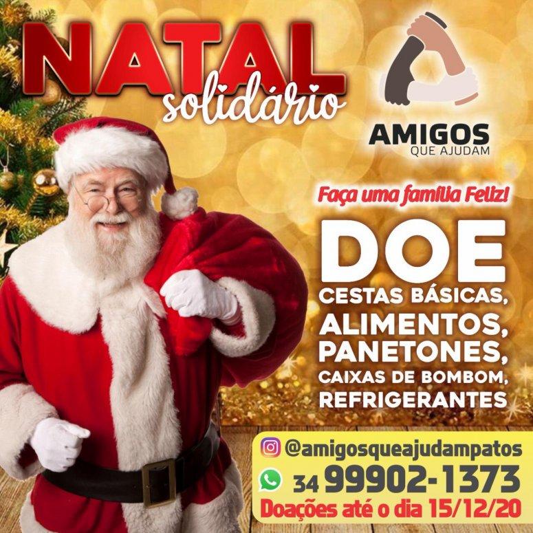 """Projeto """"Amigos que Ajudam"""" lança campanha para contribuir com o Natal de diversas famílias carentes"""