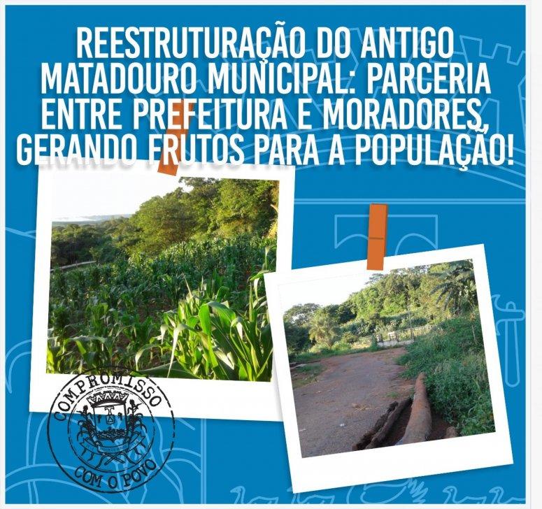 Moradores do bairro Várzea constroem horta comunitária na área do antigo Matadouro Municipal