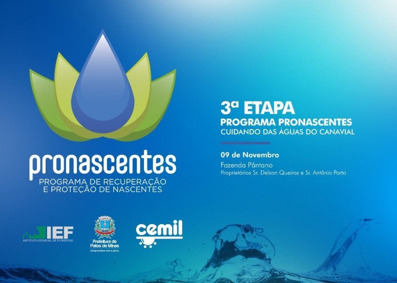 Pronascentes realiza neste sábado mais uma ação ambiental do projeto Cuidando das Águas do Canavial