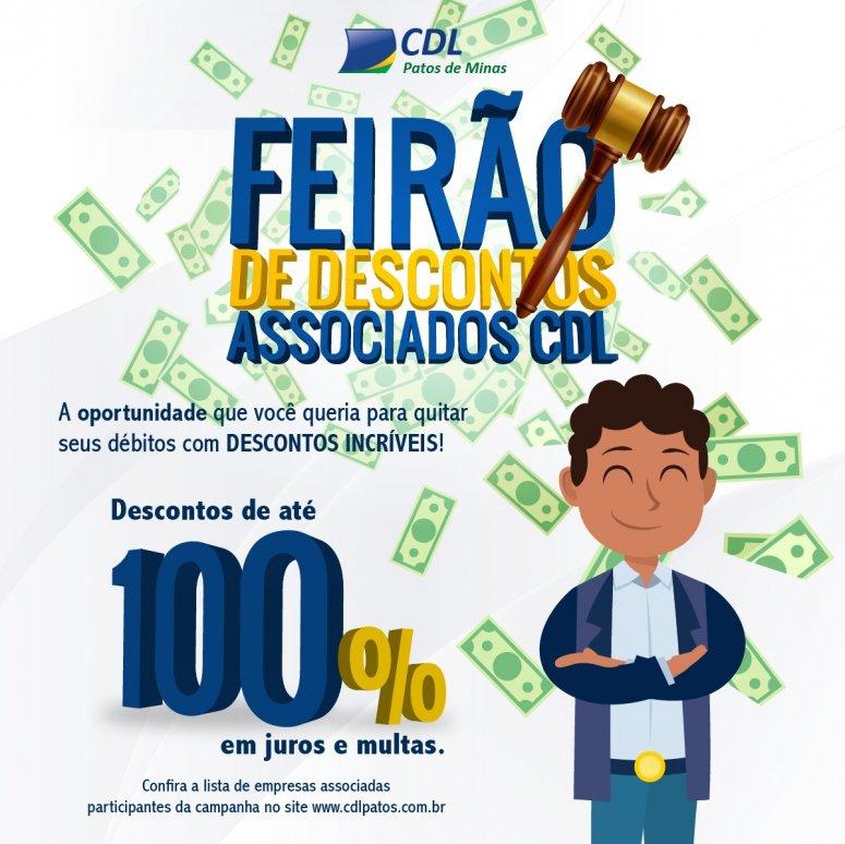 Com descontos consideráveis, CDL Patos de Minas lança Feirão de Descontos com Associados