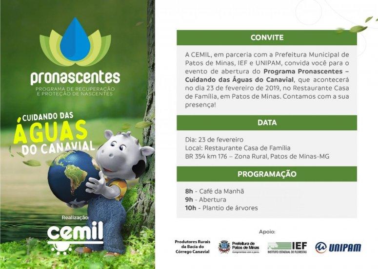 Microbacia do Córrego Canavial recebe programa de recuperação pelo Pronascentes