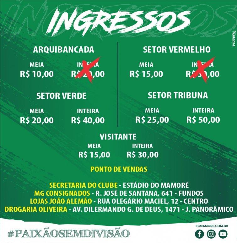 Diretoria lança promoção de ingressos para partida Mamoré X Guarani a partir de amanhã