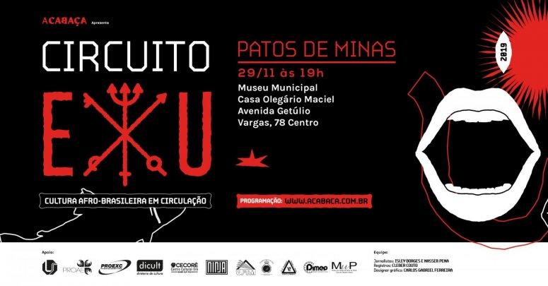 Terceira etapa do projeto Circuito EXU: cultura afro-brasileira em circulação acontece hoje