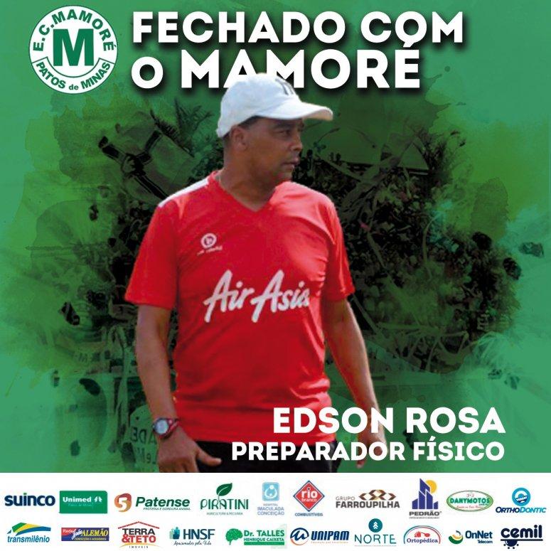 Edson Rosa é o novo preparador físico do Mamoré, e clube fecha Comissão Técnica