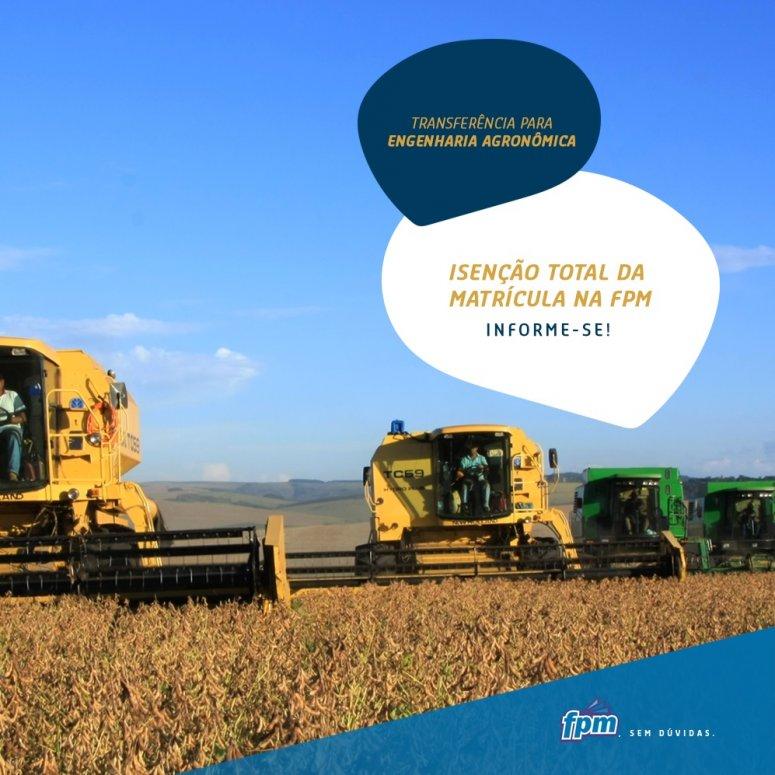 FPM concede isenção na matrícula na Engenharia Agronômica