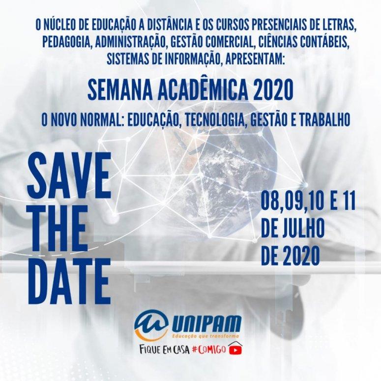 Unipam promove Semana Acadêmica 2020 em formato virtual