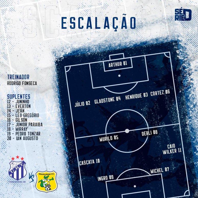URT libera escalação do elenco que enfrenta Brasiliense hoje no Zama Maciel