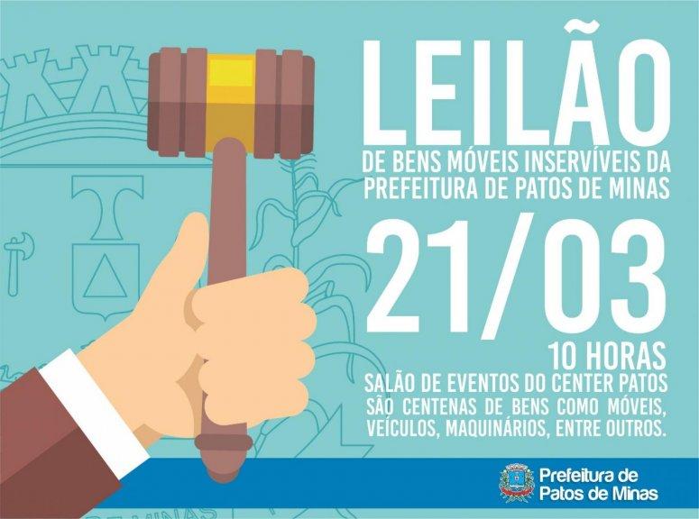 Visitas aos lotes do Leilão Público organizado pela Prefeitura começam nesta segunda-feira