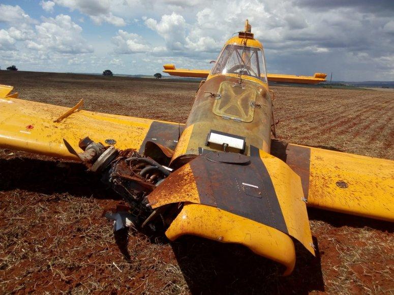Aeronave de pequeno porte sofre acidente em fazenda em Patrocínio; piloto morreu no local