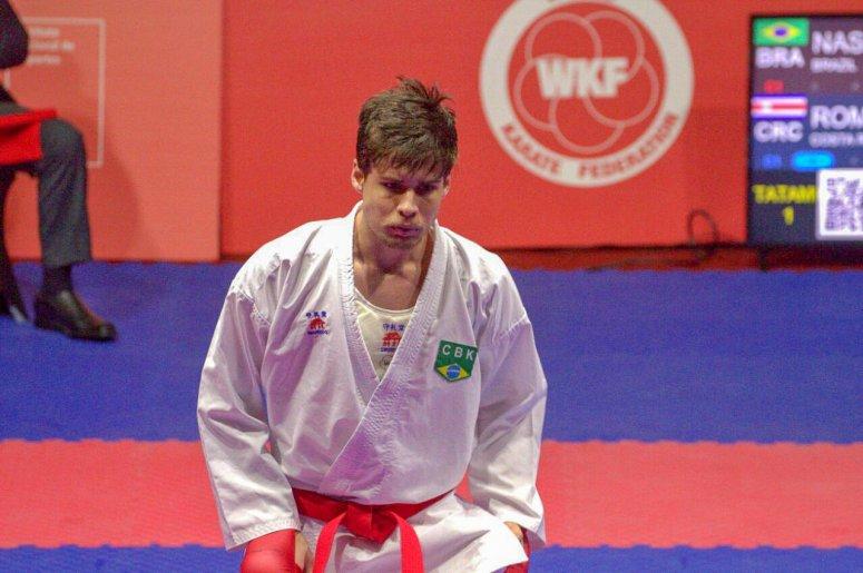 Rafael Nascimento encerra Karate1 Series A do Chile em 7º lugar