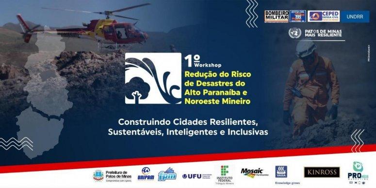 Workshop com temática voltada para a redução de riscos de desastres será realizado em Patos de Minas