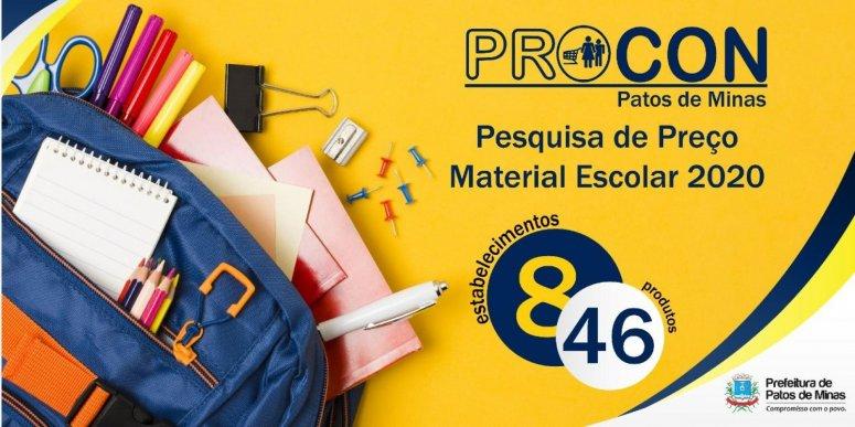 Procon realiza pesquisa de preços de materiais escolares