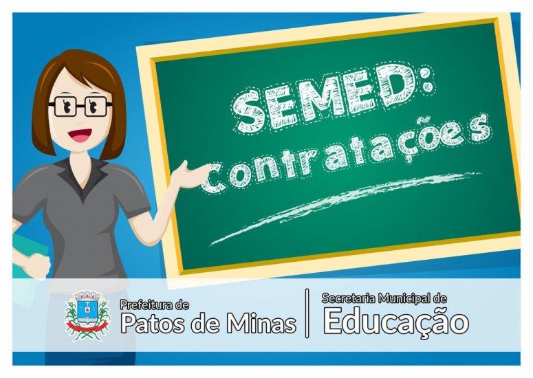 Semed divulga editais de contratação e retificação do edital nº 05/2019