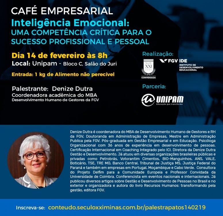 FGV e UNIPAM promovem palestra sobre inteligência emocional