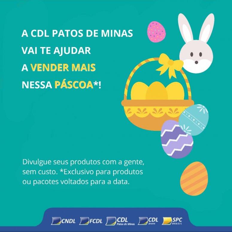 CDL Patos de Minas desenvolve ações para auxiliar lojistas e promover as vendas na semana da páscoa