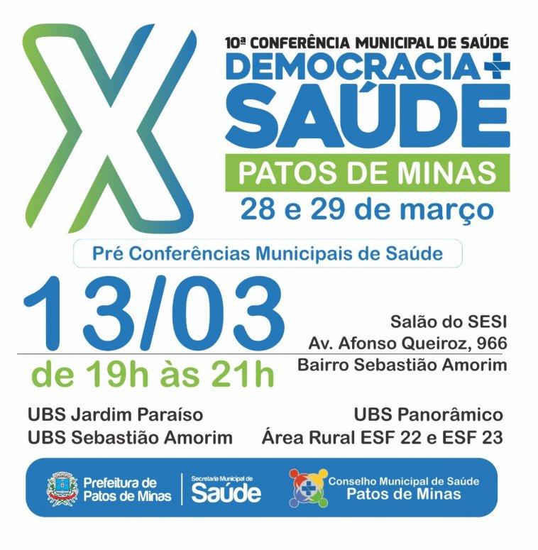 Quarta Pré-Conferência Municipal de Saúde será realizada no bairro Sebastião Amorim