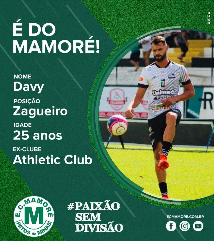 Mamoré anuncia zagueiro Davy, de 25 anos, para a disputa da Segunda Divisão