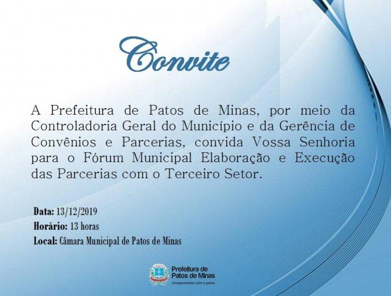 Fórum relacionado às parcerias com o Terceiro Setor será realizado hoje
