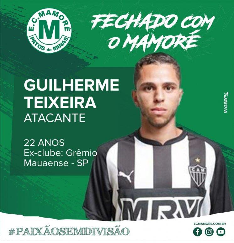 Atacante Guilherme Teixeira é um dos contratados pelo Mamoré