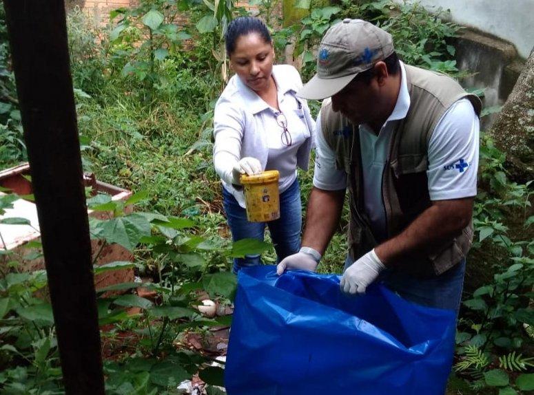 Programa de Combate à Dengue realiza mutirão de limpeza no bairro Lagoinha