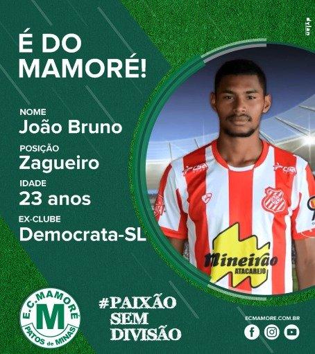 João Bruno, ex-Democrata, vai reforçar a defesa do Mamoré