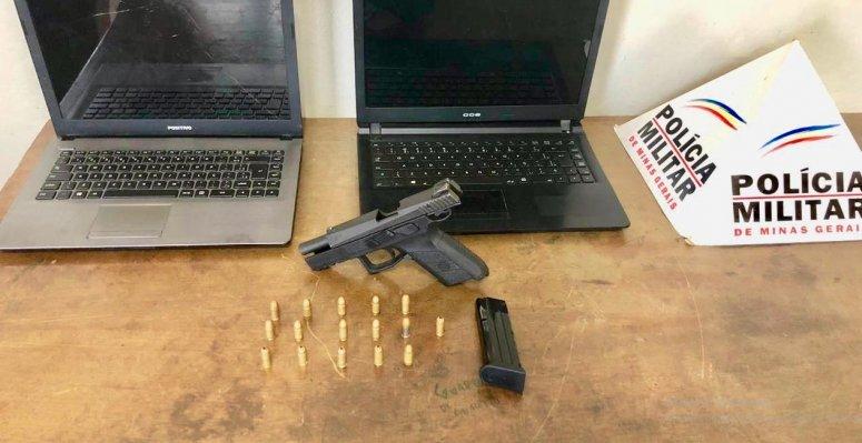 PM prende autor por porte ilegal de arma de fogo e mandado de prisão em aberto