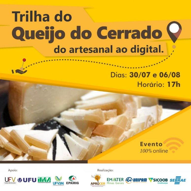 Evento online sobre Queijo Minas Artesanal do Cerrado começa hoje