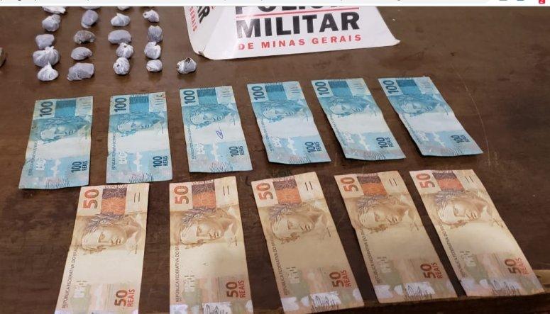 PM realiza prisão de traficante e apreensão de drogas em Patrocínio