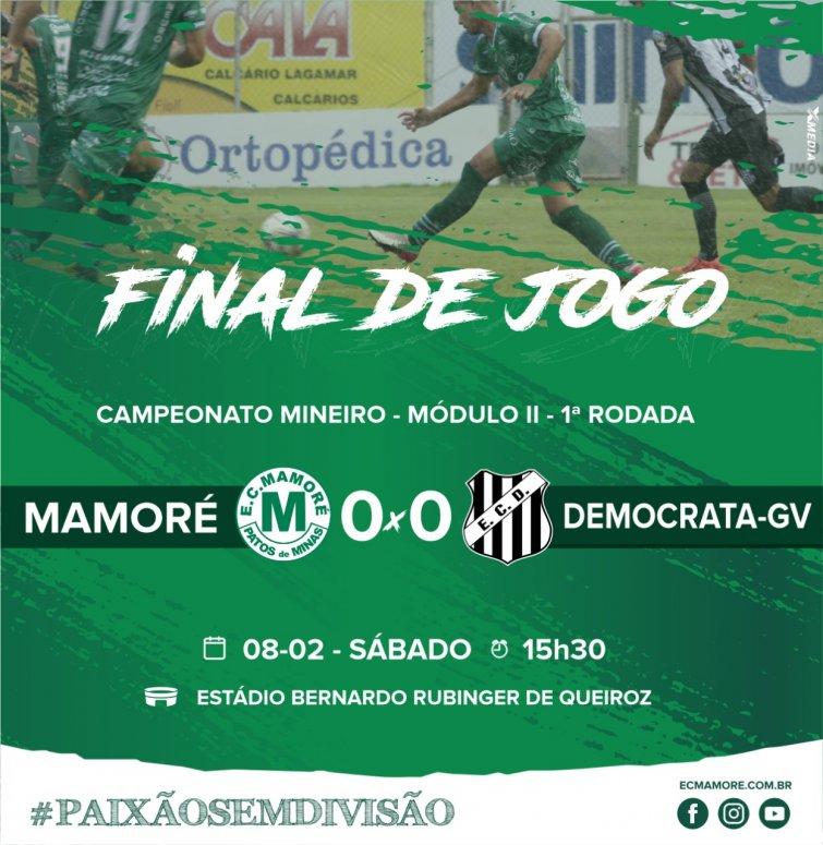Mamoré estreia com empate com Democrata-GV em 0 a 0