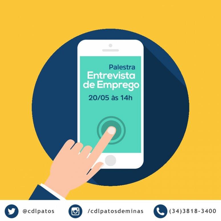 Entrevista de Emprego será tema de encontro promovido pelo CDL Talentos, com inscrições gratuitas
