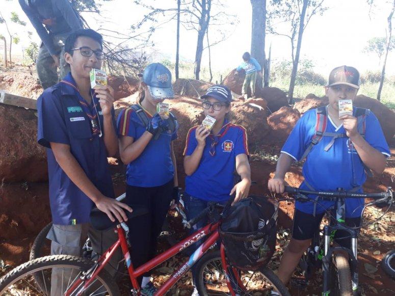 Passeio ciclístico e instalação de placas de educação ambiental encerram a Semana Municipal de Meio Ambiente