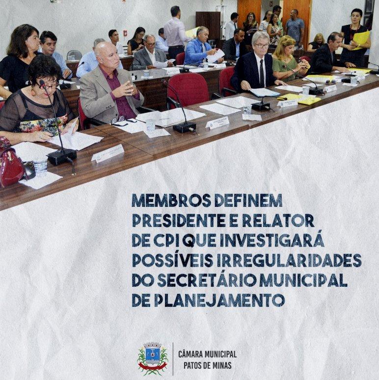 Membros definem presidente e relator de CPI que investigará possíveis irregularidades