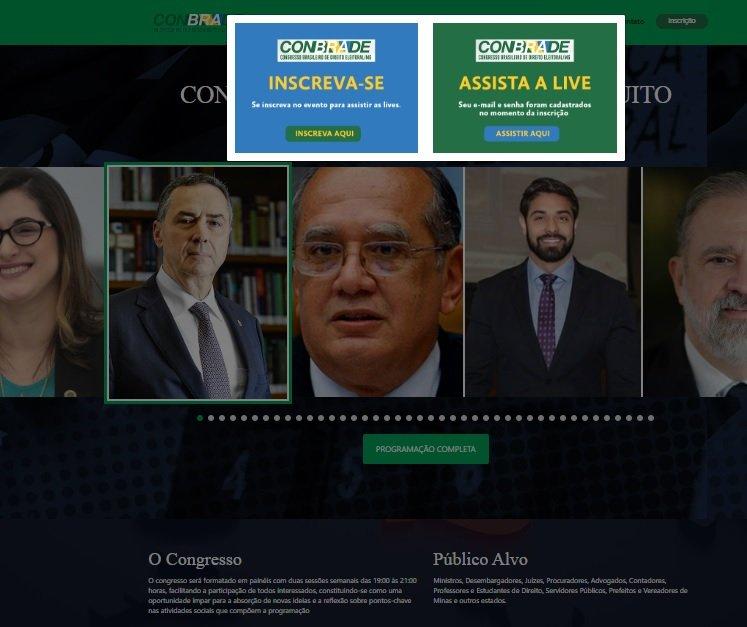 Ministro Gilmar Mendes participa de painel on-line sobre Direito Eleitoral com presença do Presidente da Subseção da OAB de Patos