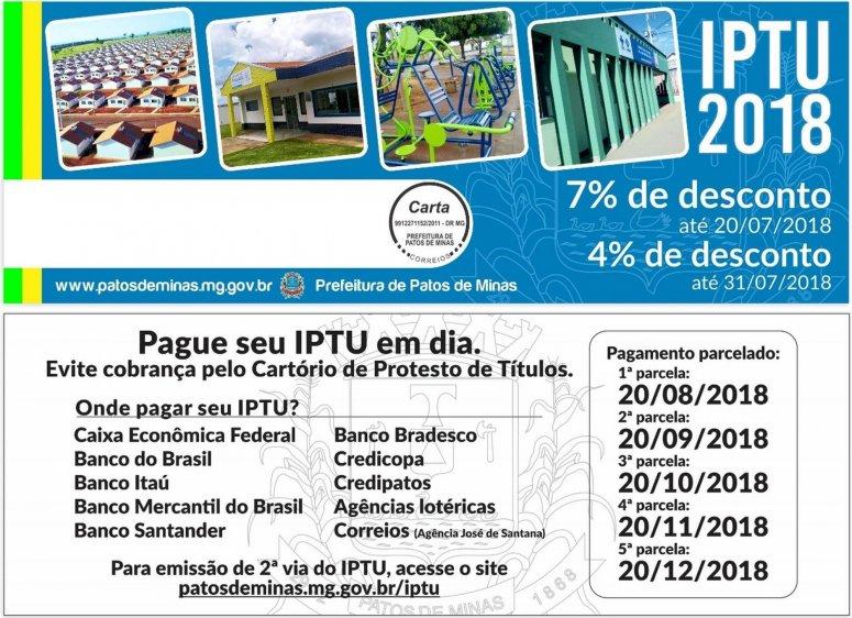 Prazos para pagamento do IPTU com desconto começam a vencer na próxima semana