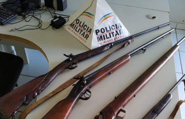 Polícia Militar apreende quatro armas de fogo em Lagoa Formosa