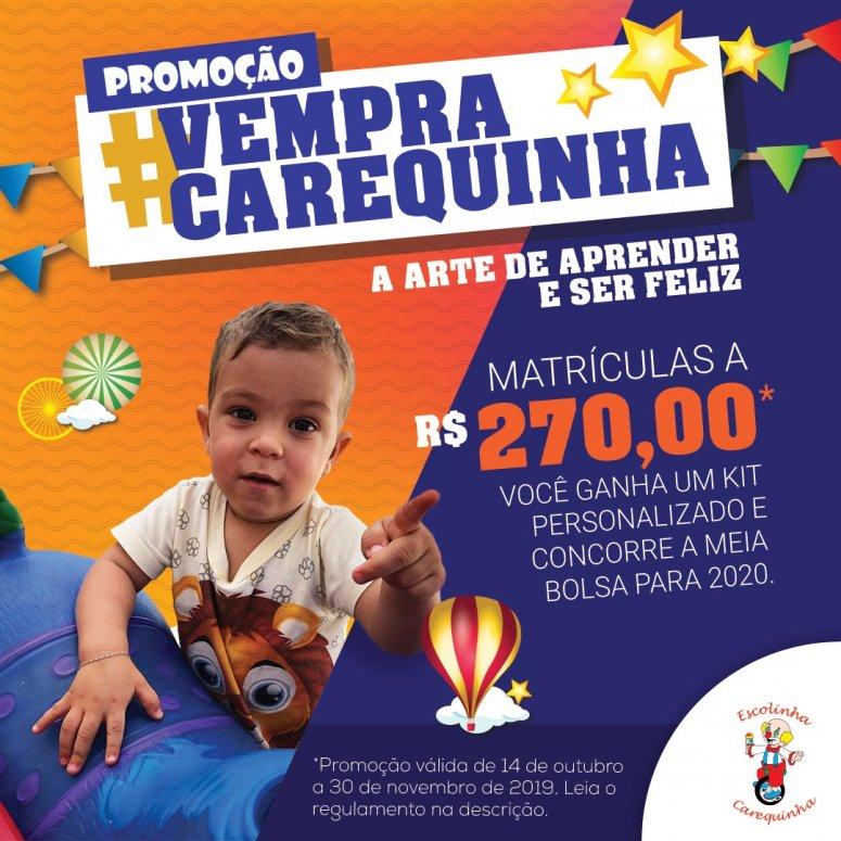 Escolinha Carequinha lança campanha de matriculas 2020