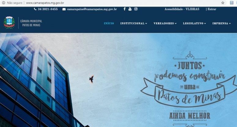 Novo site da Câmara Municipal de Patos de Minas já está no ar