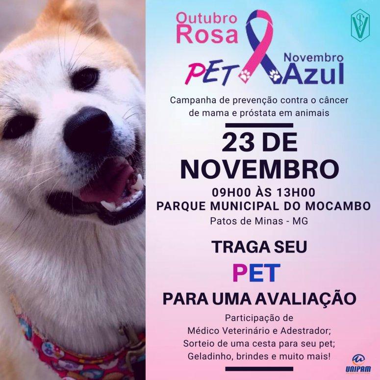 """Alunos de Medicina Veterinária promoverão o evento """"Outubro Rosa e Novembro Azul Pet"""""""
