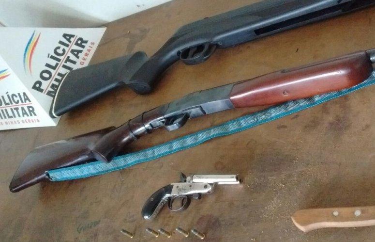 Homem é preso com três armas de fogo em Guimarânia