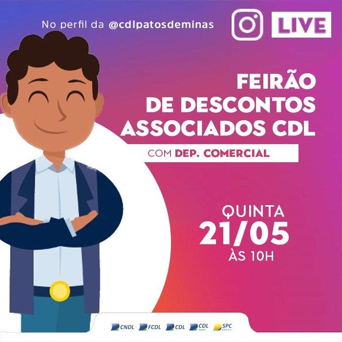 CDL lança feirão de descontos para associados do comércio patense
