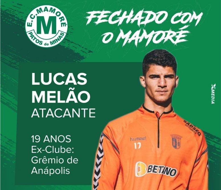 Mamoré anuncia centroavante Lucas Melão para a Temporada 2020